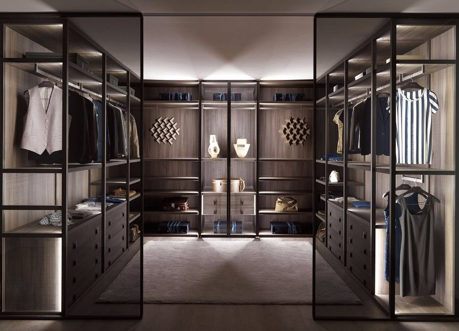 luxury walk in wardrobe
