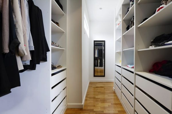 custom walk in wardrobe