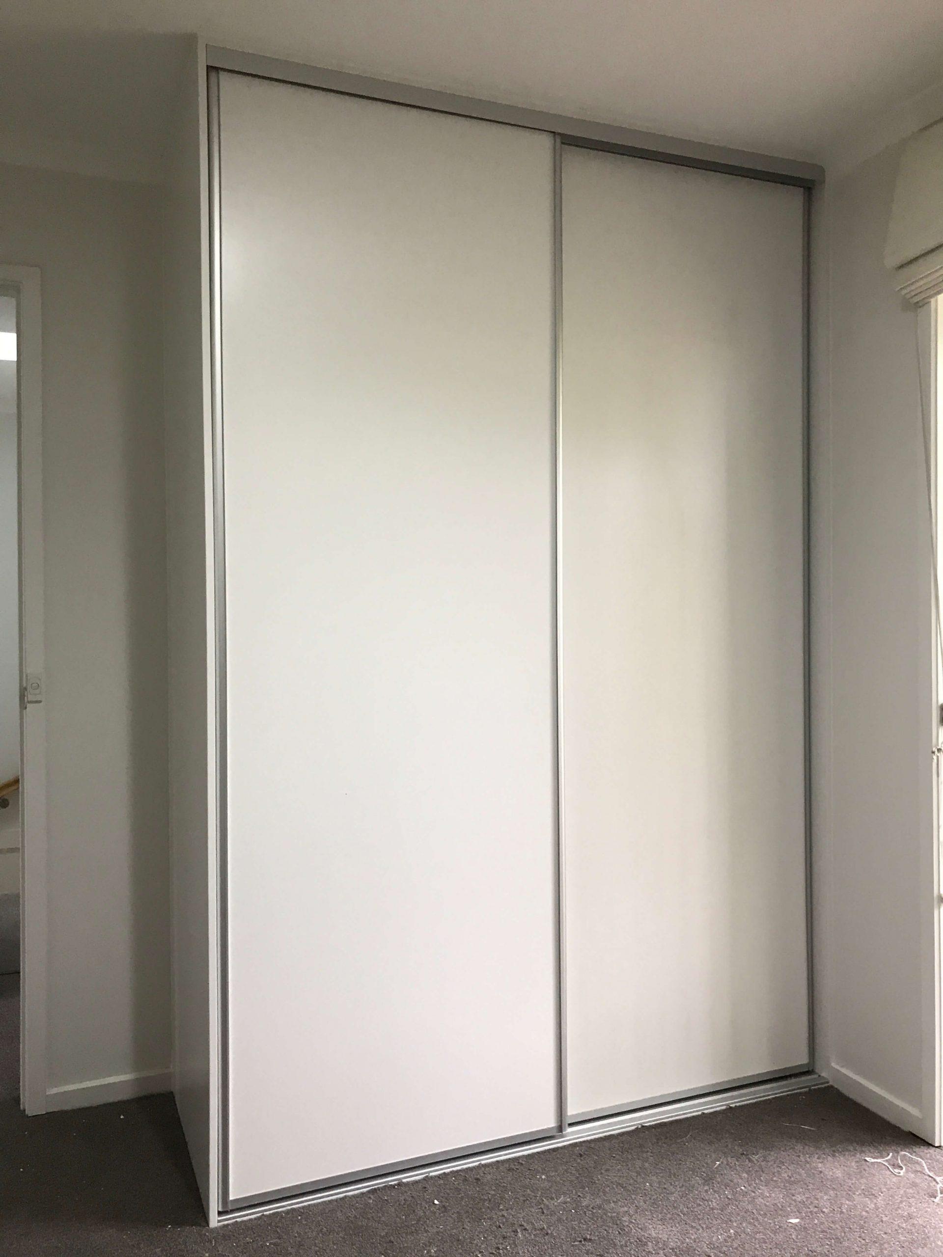9mm Classic White Matt sliding wardrobe doors