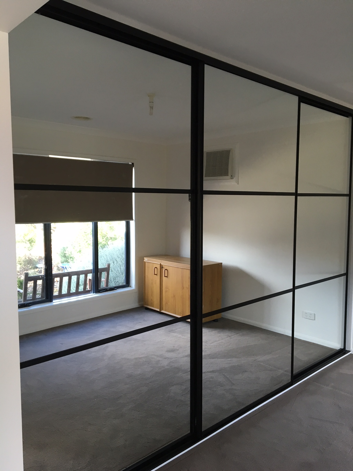Split panel sliding wardrobe doors