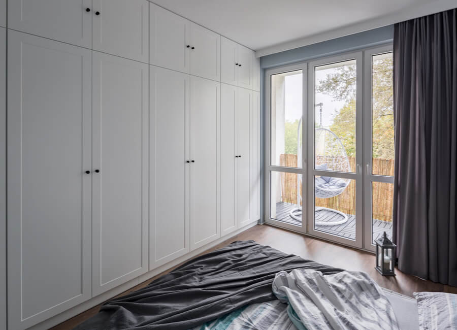 White Hinged Wardrobe Doors