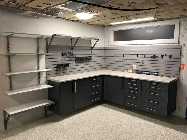 Garage bench and storage