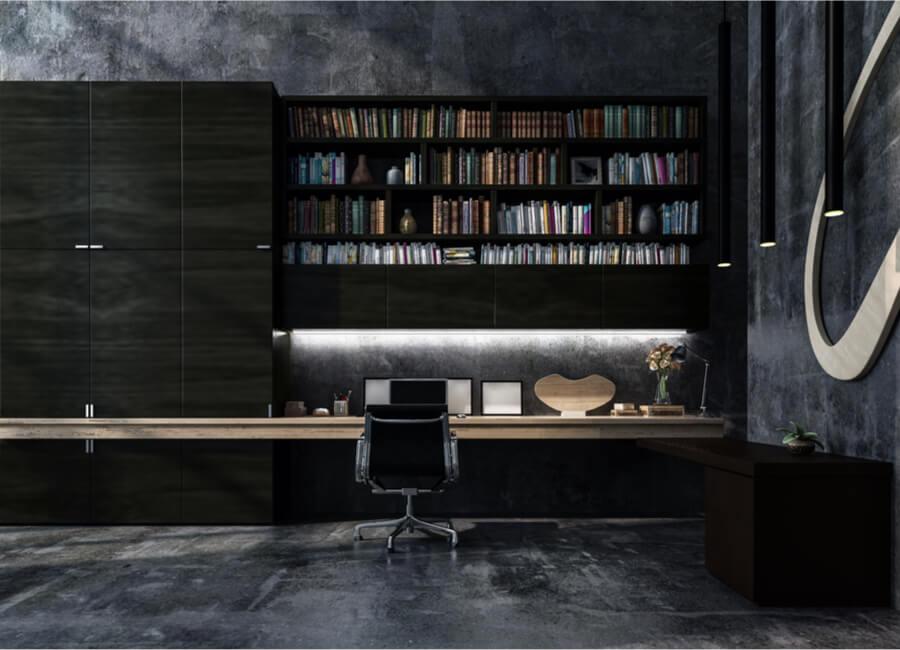 Black Wood Build In Desk