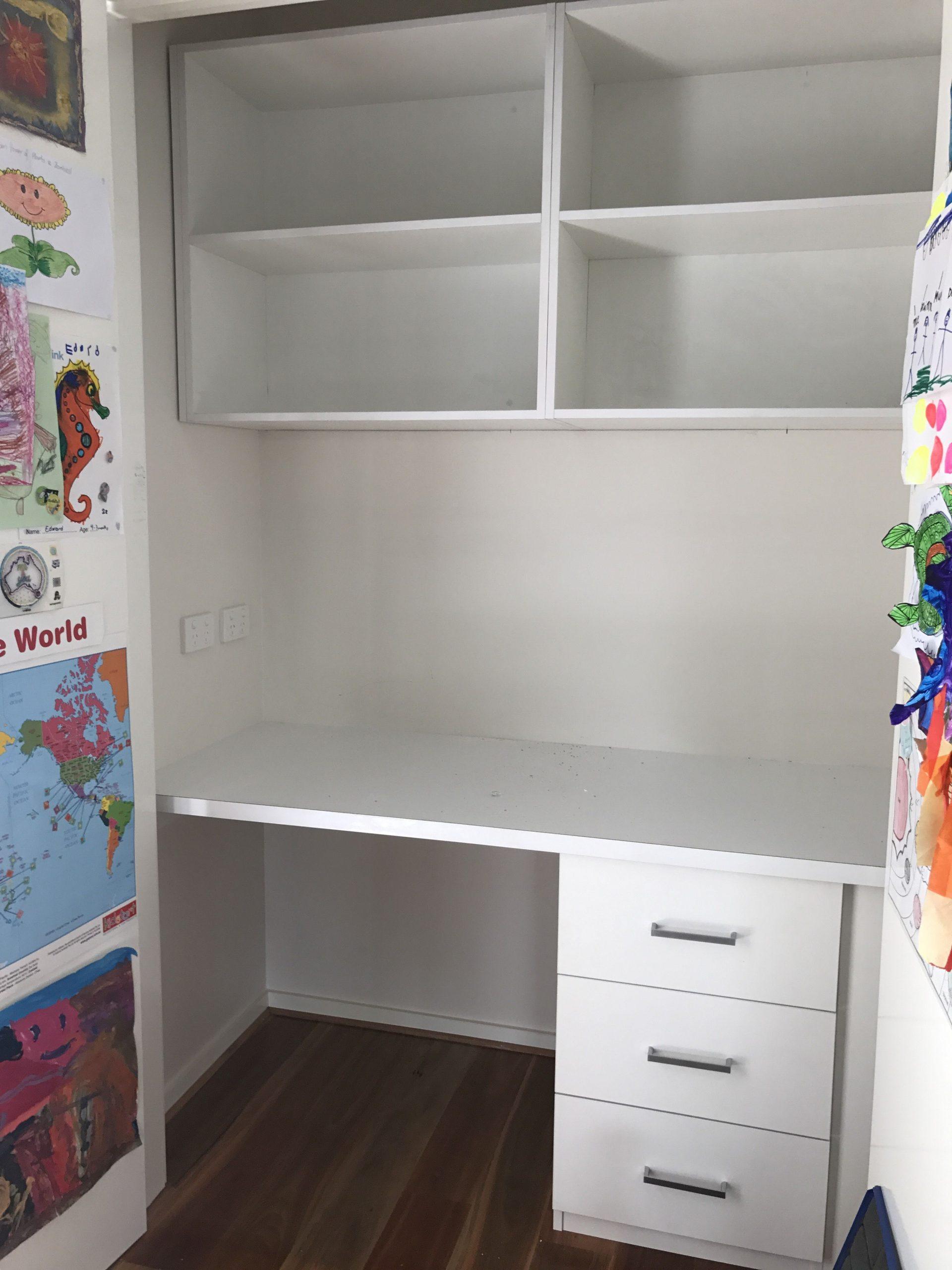 Childrens Custom Built in Desk