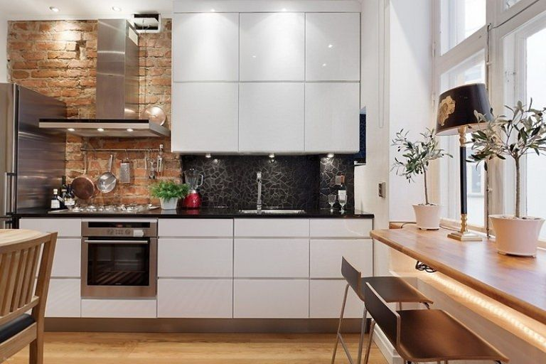 Gallery industrial style kitchen