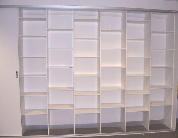 Garage Storage units with White Melamine Sliding Doors