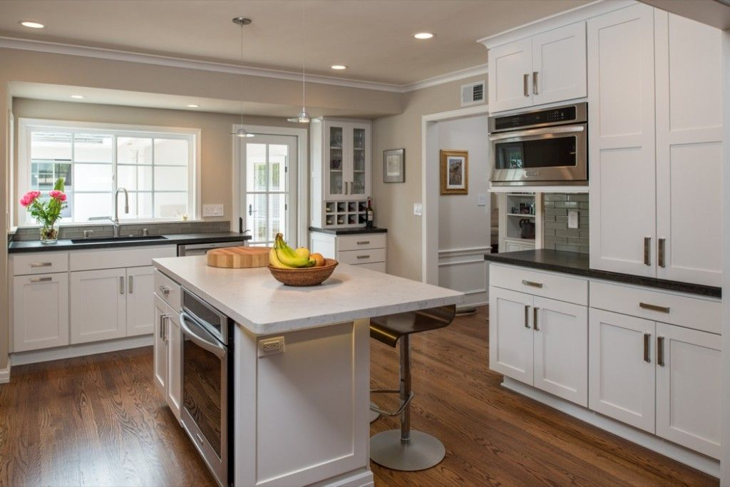 Kitchen with white shaker doors