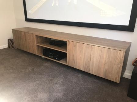 Timber Veneer TV unit