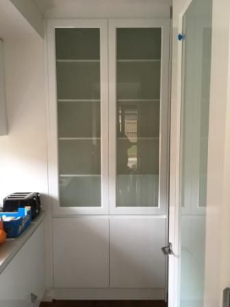 cupboards in butlers pantry