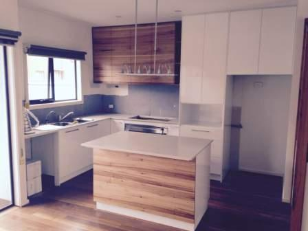 kitchen island benchtop with cupboards