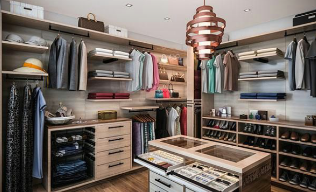 luxury walk in wardrobe designer