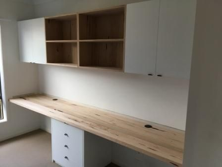 study completed in white melamine with messmate benchtop